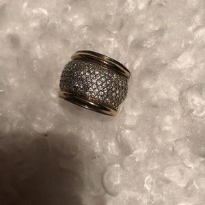 Silver925 and gold ring